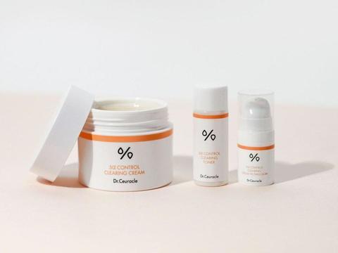 Dr. Ceuracle 5 Control Clearing Cream Крем + мини-эмульсия и мини-тонер для проблемной кожи