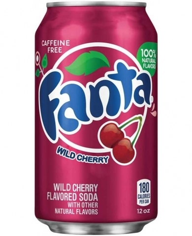 Fanta Wild Cherry Фанта со вкусом дикой вишни 0,355 л