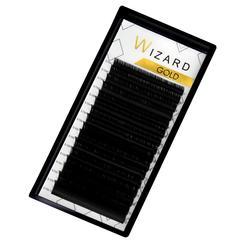 Ресницы черные Wizard GOLD отдельные длины 16 линий