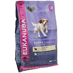 Корм для щенков всех пород, Eukanuba Dog Puppy Lamb & Rice, с ягненком и рисом