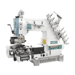 Фото: Четырехигольная поясная машина цепного стежка  с сервомотором SIRUBA VC008-04095P/VWLB/FH/DVU1-0