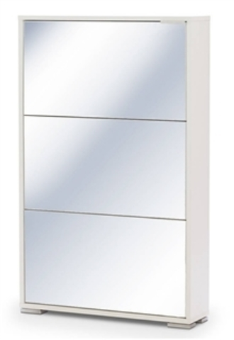 Обувница ВИВА-3 (Белый/Белое стекло)