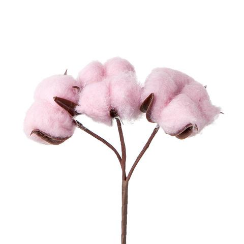 Набор хлопка на пластике 3 шт., цвет: розовый