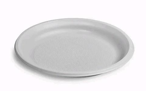Одноразовая пластиковая тарелка десертная Идеал D=170 мм