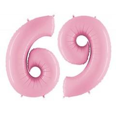 Г Цифра, 6/9, Розовый (Pink), 40''/102 см, 1 шт.