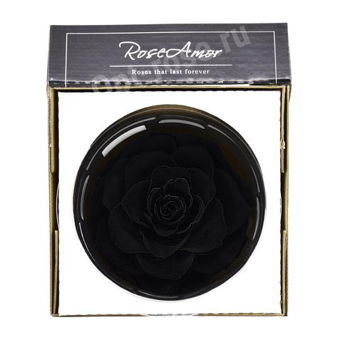 Стабилизированный Бутон Розы Кинг Rose Amor(Эквадор)Bonita Цвет Черный (10-12см)