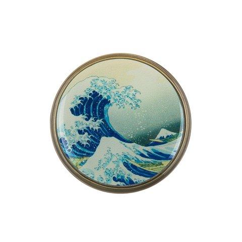 Брошь «Большая волна в Канагаве» F78471-OLAS