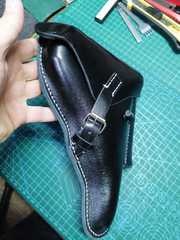 Leather holster for Luger P08 and Walther P38