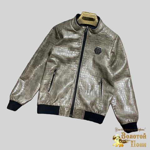 Куртка экокожа мальчику (8-15) 210328-К-74031