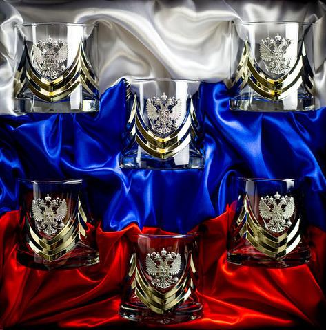 Подарочный набор стаканов для виски «Власть», Триколор