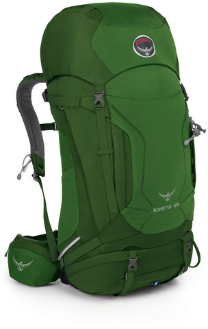 Картинка рюкзак туристический Osprey Kestrel 58 Jungle Green - 1