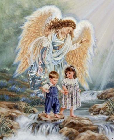 Алмазная Мозаика 50x65 Путешествие с ангелом хранителем