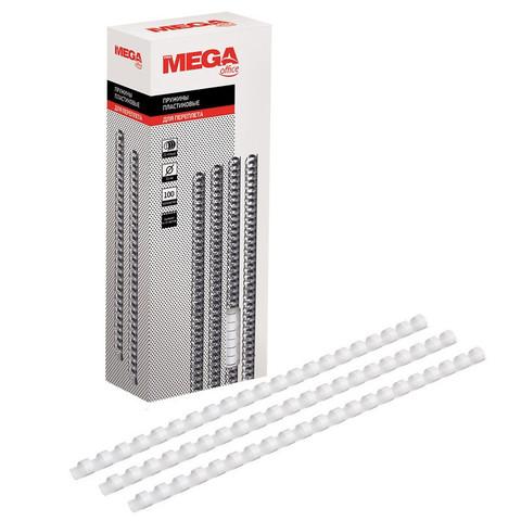 Пружины для переплета пластиковые Promega office 10 мм белые (100 штук в упаковке)