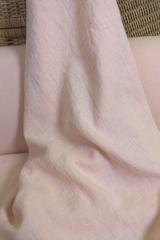 Ткань льняная, с эффектом мятости, цвет: светлый персиковый