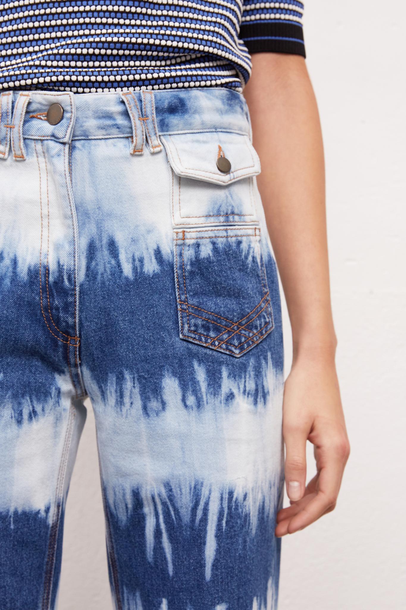 ANNA - Широкие джинсы с принтом тай-дай