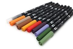 Маркер-кисть Tombow ABT Dual Brush Pen-N55, холодный серый 7