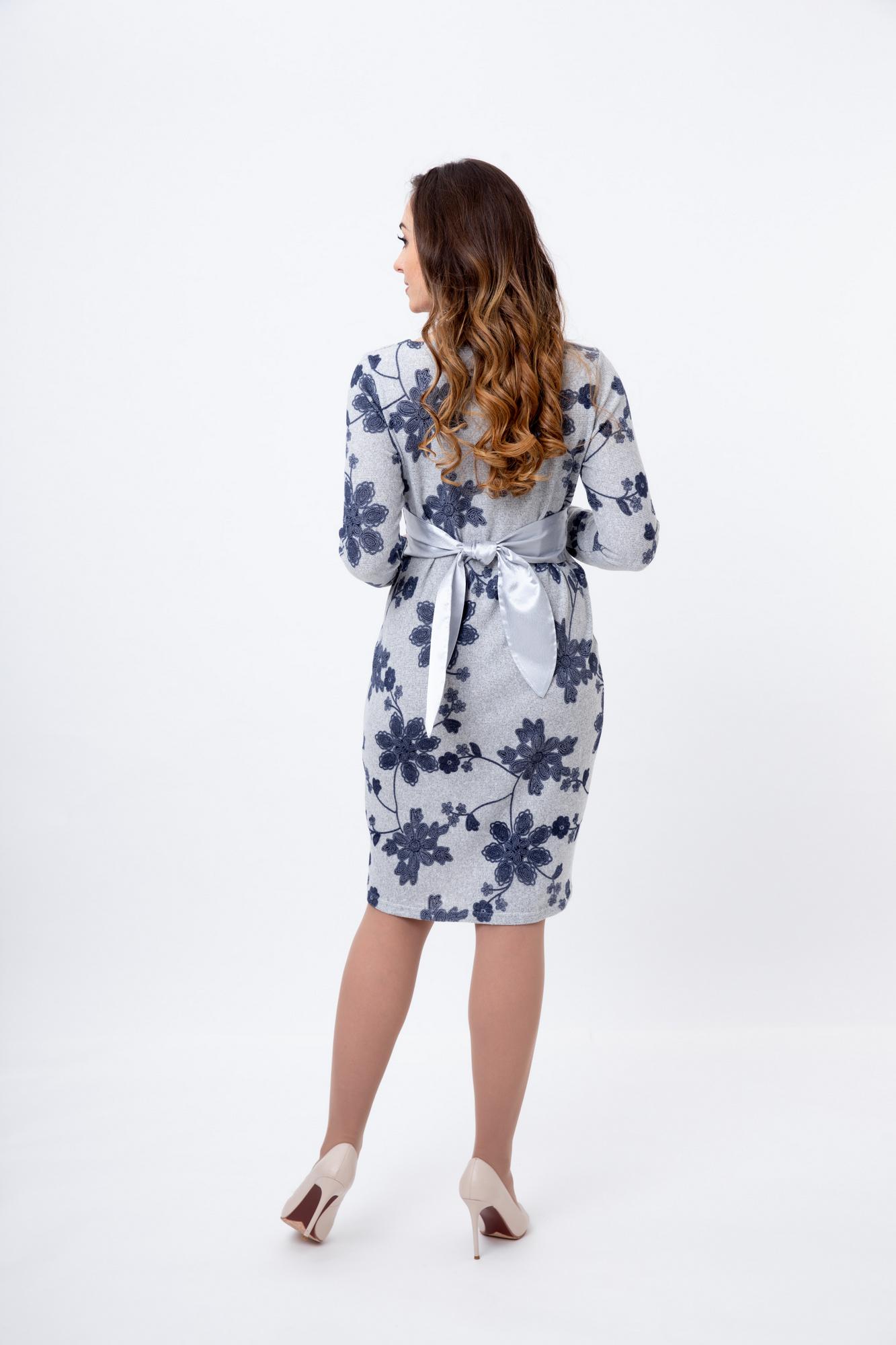 Фото платье для беременных Magica bellezza от магазина СкороМама, серый, узорный, размеры.