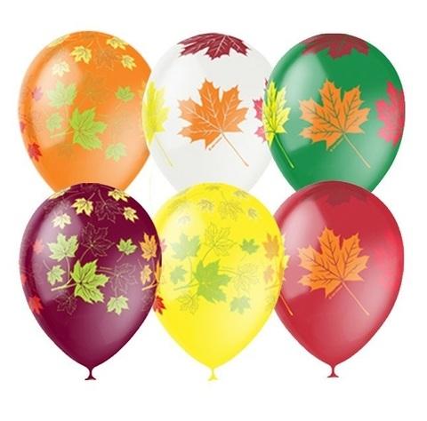 Шары листья разноцветные на 1 сентября