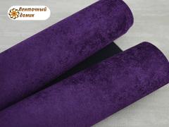Бархат ЛЮКС для бантиков на флисовой основе пурпурный