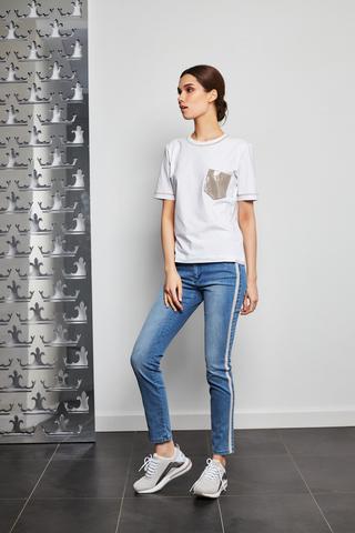 D.Exterior джинсы с лампасом