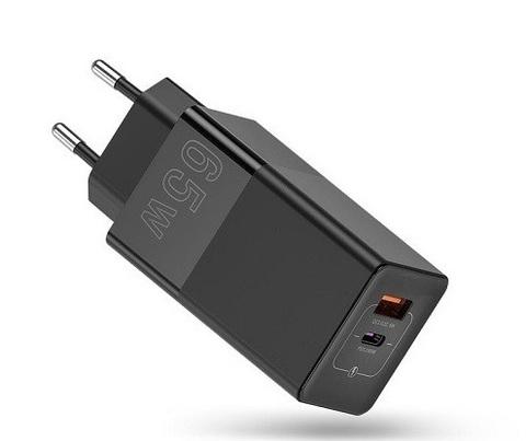 Адаптер питания сетевой GUOKE 65W Fast Charger with GaN Technology USB, Type-C Black
