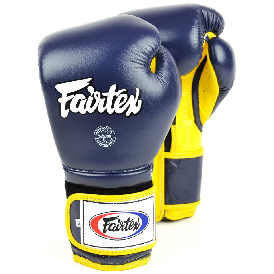 Перчатки Перчатки для бокса Fairtex Boxing gloves BGV9 Blue/yellow 1.jpg