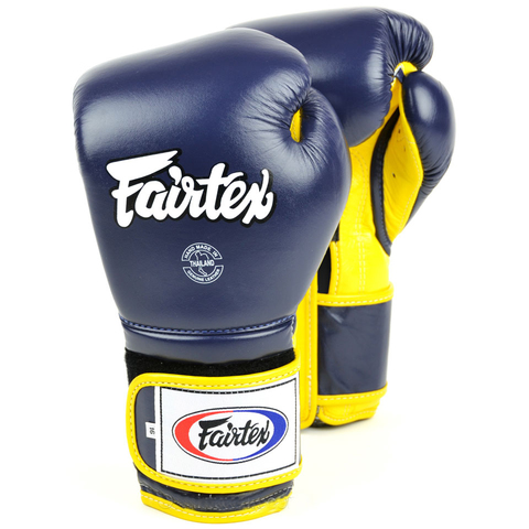 Перчатки для бокса Fairtex Boxing gloves BGV9 Blue/yellow
