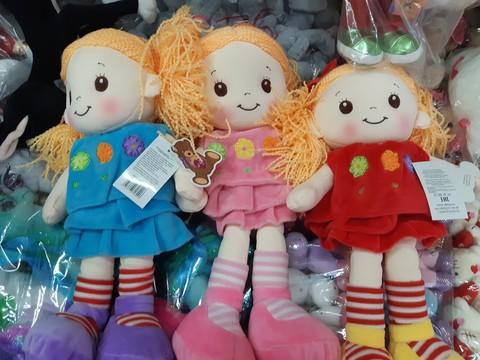 Мягкая музыкальная кукла в трёх расцветках