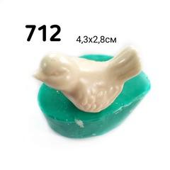 0712 Молд силиконовый 3Д. Птичка.
