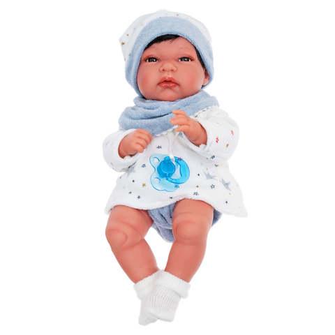 Munecas Antonio Juan Кукла Альберт в голубом, 33 см(6031)