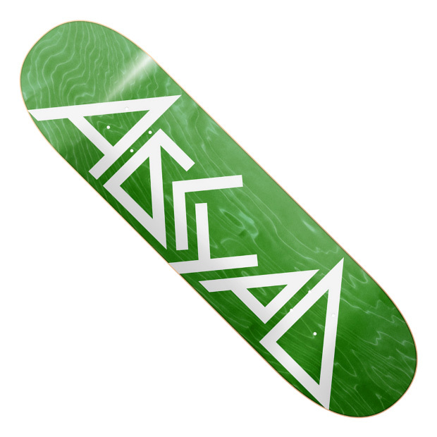 Дека для скейтборда АБСУРД Logo SS21 (Green)