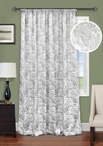 Готовая штора Вивьен двухсторонний жаккард светло-серый