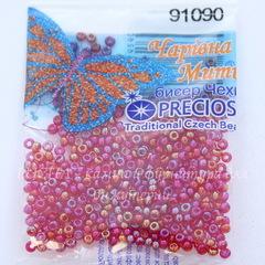 91090 Бисер 10/0 Preciosa прозрачный радужный темно-красный