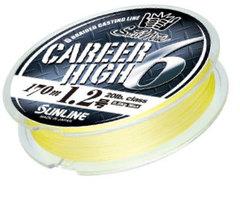 Плетёный шнур Sunline CAREER HIGH 6 HG Yellow 170m #1.7/30lb