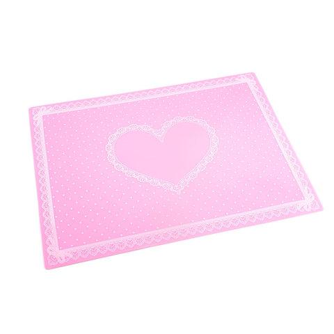 Силиконовый коврик для маникюра розовый