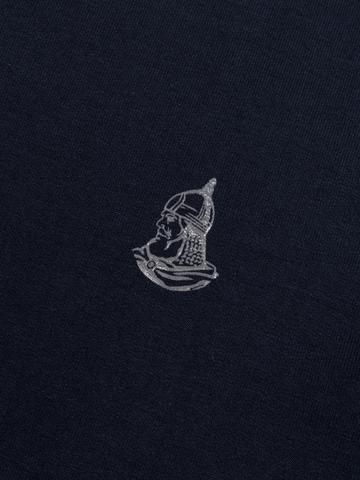Джемпер с круглым воротом тёмно-синего цвета