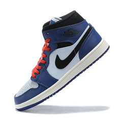 Air Jordan 1 Mid 'Blue/White/Black'