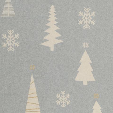 Плед из хлопка с новогодним рисунком Christmas tree из коллекции New Year Essential, 130х180 см