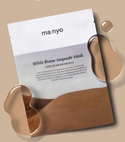 Восстанавливающая маска с пробиотиками Manyo Bifida Biome Ampoule Mask