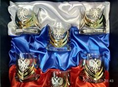 Подарочный набор стаканов для виски «Власть», Триколор, фото 4