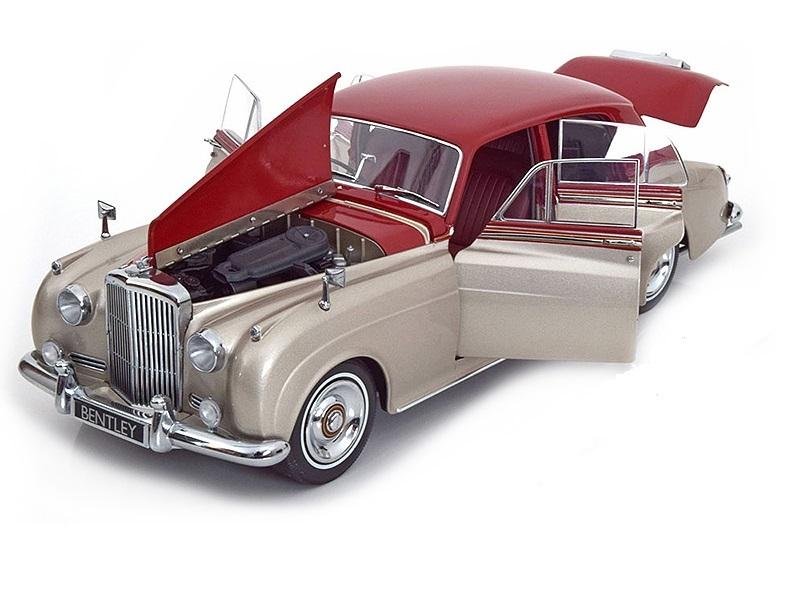 Коллекционная модель Bentley S2 1954 Silver/Red