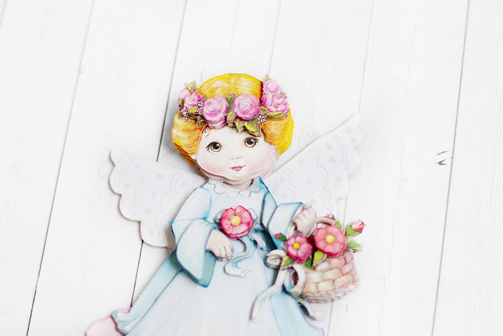 Ангел с цветами - готовая работа, детали сюжета.
