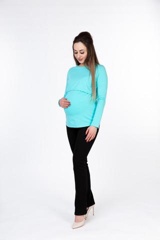 Лонгслив для беременных и кормящих 10048 мята