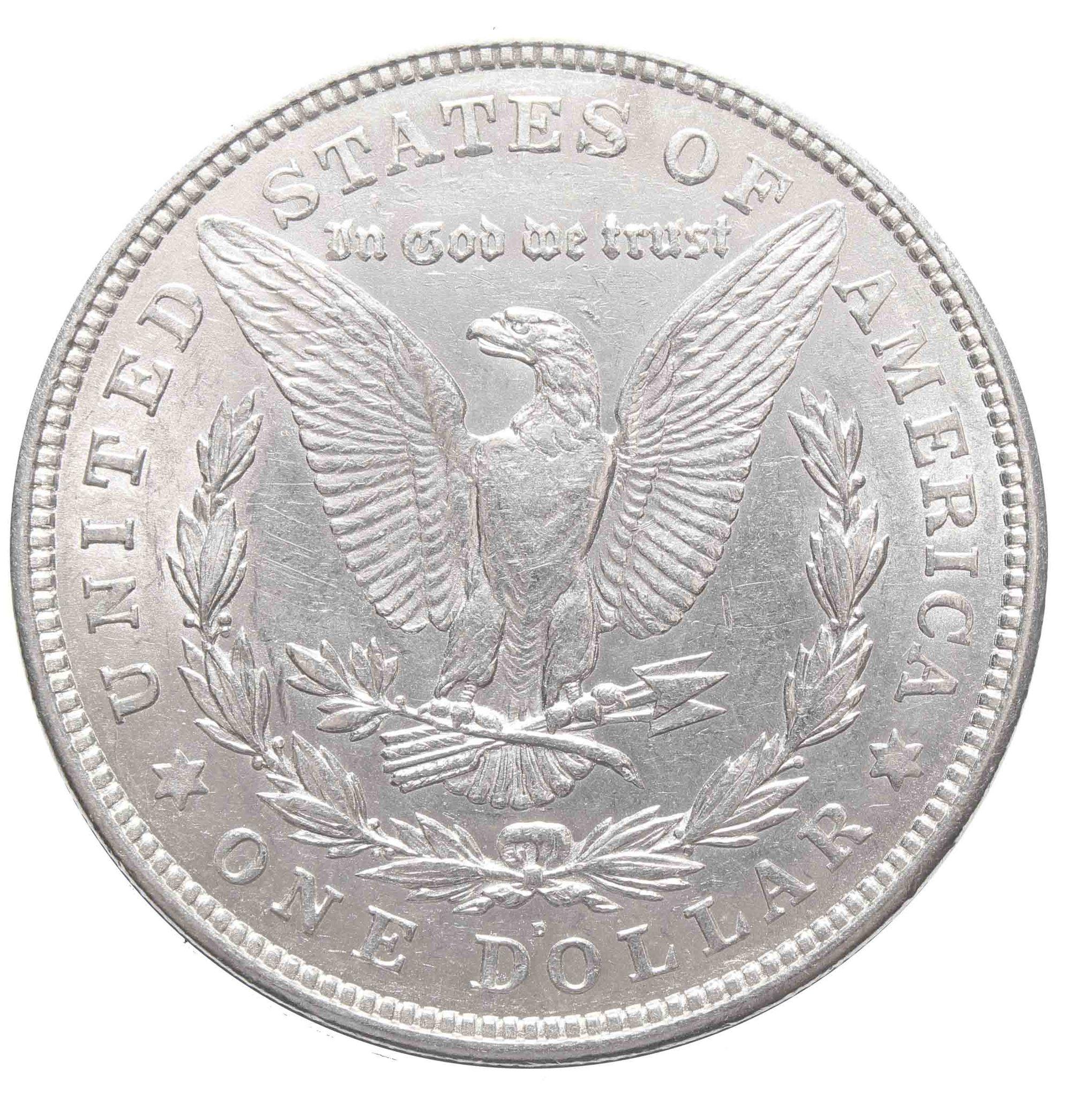 1 доллар 1921. (D) США (Морган) AU