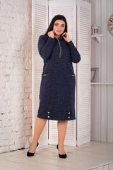 Кейт. Тепле стильне плаття великих розмірів. Синій