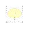 Диаграмма светораспределения для автономного светильника аварийного освещения UP LED LITE