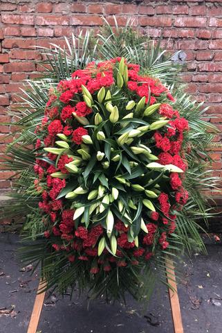 Венок из живых цветов заказной ВЖ-19