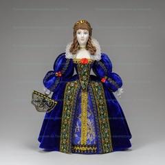 Сувенирная кукла в бархатном платье в стиле барокко