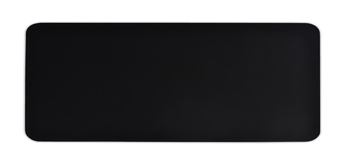 Бювар прямоугольный 115*43 см из итальянской черной кожи Cuoietto.
