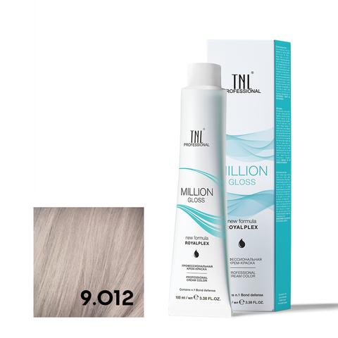 Крем-краска для волос TNL Million Gloss оттенок 9.012 Очень светлый блонд прозрачный серебр. 100 мл